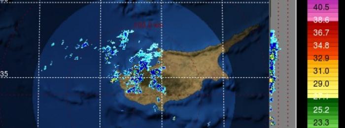 Kαιρική ενημέρωση (09:30): Bροχές στο δυτικό μισό του νησιού - Εκδήλωση τοπικών καταιγίδων αργότερα