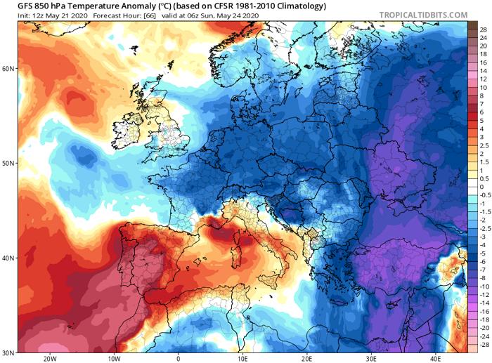 Kατακόρυφη πτώση της θερμοκρασίας - Σημαντική ενίσχυση ανέμων και πιθανότητες βροχής το Σ/Κ