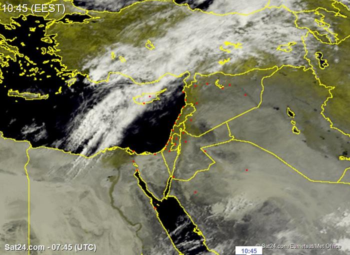 Συννεφιασμένος καιρός σήμερα με λίγες λασποβροχές και πιθανότητα μεμονωμένων ξηρών καταιγίδων