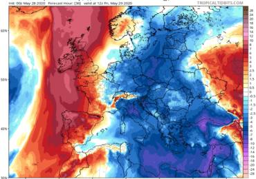 Πιθανότητα μεμονωμένων βροχών απόψε - Ισχυρό και δροσερό δυτικό ρεύμα αέρα σήμερα και αύριο