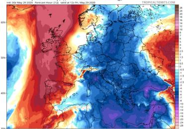 Ισχυρό δυτικό ρεύμα αέρα και θερμοκρασίες κάτω της κανονικής σήμερα - Αναλυτικά ο καιρός το Σ/Κ