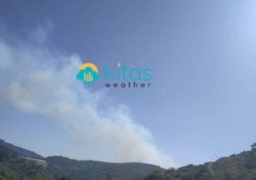 Μεγάλη πυρκαγιά εκτός ελέγχου στην Ακρούντα