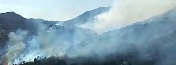 Μεγάλων διαστάσεων πυρκαγιά κατακαίει πευκοδάσος στην Ακρούντα - Διερώνα (Βίντεο)