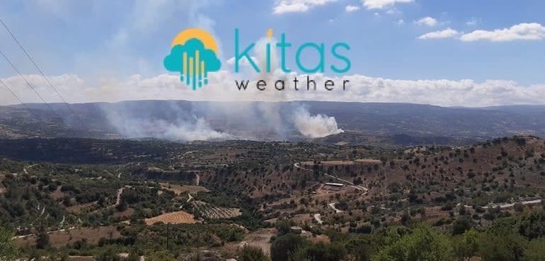 Δύο μέτωπα πυρκαγιών στην κοινότητα της Αμαργέτης στην επαρχία Πάφου