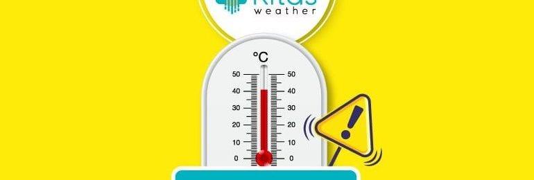 Νέα κίτρινη προειδοποίηση υψηλών θερμοκρασιών από Kitasweather για αύριο Τετάρτη (9/9)