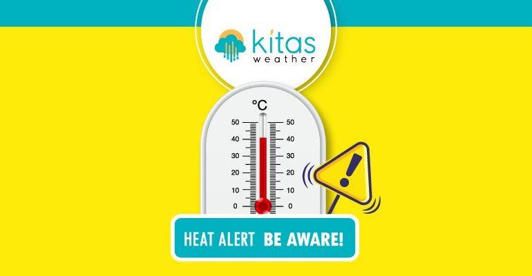 Νέα κίτρινη προειδοποίηση υψηλών θερμοκρασιών από Kitasweather για αύριο Παρασκευή (24/7)