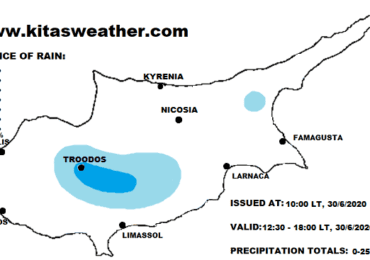 Μεμονωμένες βροχές/καταιγίδες το απόγευμα - Ακολουθούν ιδιαίτερα θερμές αέριες μάζες