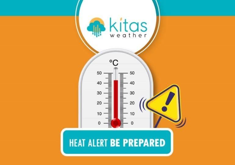 Πορτοκαλί/Κίτρινη προειδοποίηση υψηλών θερμοκρασιών από Kitasweather για αύριο Παρασκευή
