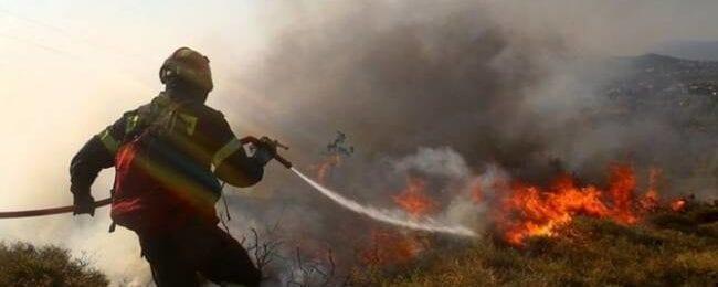 Πυρκαγιά στον Άγιο Τύχωνα παράλληλα του αυτοκινητοδρόμου Λεμεσού - Λευκωσίας