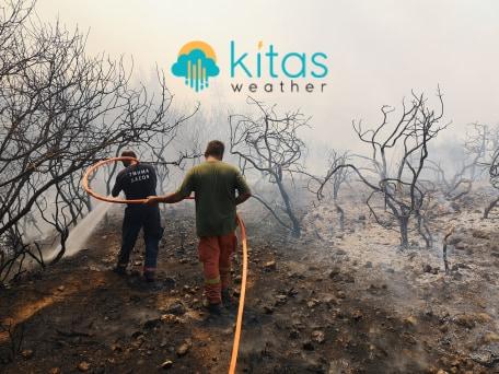 Μεγάλη πυρκαγιά μεταξύ Δρούσιας/Κάθηκα - Επιχειρούν εναέρια μέσα κατάσβεσης