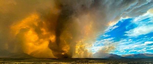 Θερμοκρασιακά ρεκόρ και καταγραφή πυροστρόβιλου στην Καλιφόρνια των Η.Π.Α (Βίντεο)