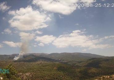 Μεγάλη δασική πυρκαγιά στις Πλάτρες - επιχειρούν εναέρια μέσα
