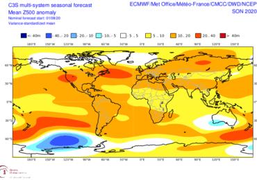 Ανάλυση μακροπρόθεσμων προγνώσεων φθινοπώρου 2020 - Τι εκτιμούν διάφορα προγνωστικά μοντέλα