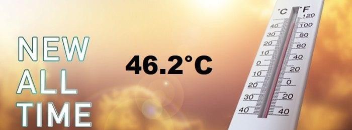 Ιστορική η σημερινή ημέρα με 46άρια - Δείτε τις 10 υψηλότερες θερμοκρασίες για σήμερα (4/9)