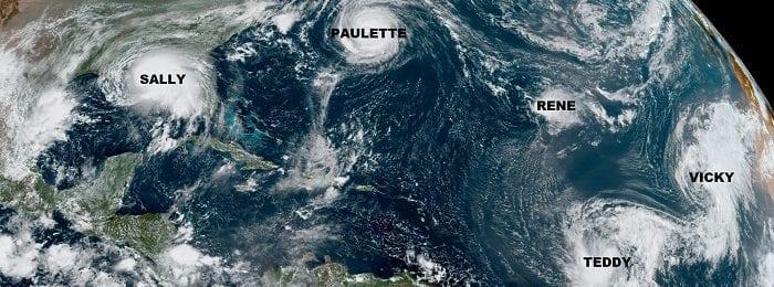 Σχεδόν εξαντλήθηκαν τα ονόματα κυκλώνων στον Ατλαντικό - Αναμένεται χρήση του ελληνικού αλφαβήτου
