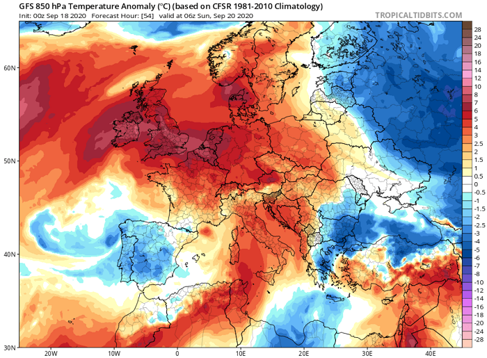 Σταδιακή αισθητή πτώση της θερμοκρασίας τις επόμενες ημέρες - Πιθανότητα μεμονωμένων βροχών