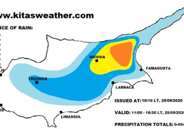 Τοπικές καταιγίδες σήμερα - Μετά την πρόσκαιρη πτώση ακολουθεί αισθητή άνοδος της θερμοκρασίας