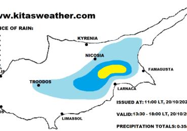 Τοπικά έντονες καταιγίδες σήμερα και αύριο - Αυξάνεται η σκόνη προς τα τέλη της εβδομάδας